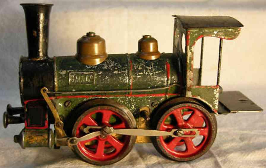 maerklin 1021 bn spielzeug eisenbahn uhrwerk-dampflokomotive gruen schwarz spur 1
