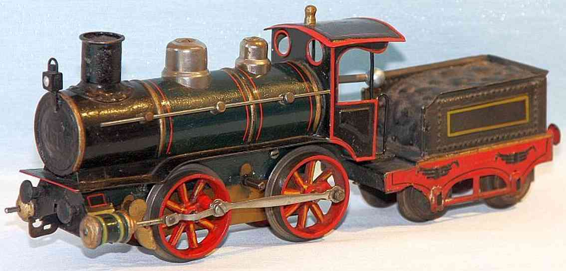 maerklin 1021 bn spielzeug eisenbahn uhrwerklokomotive gruen schwarz spur 1