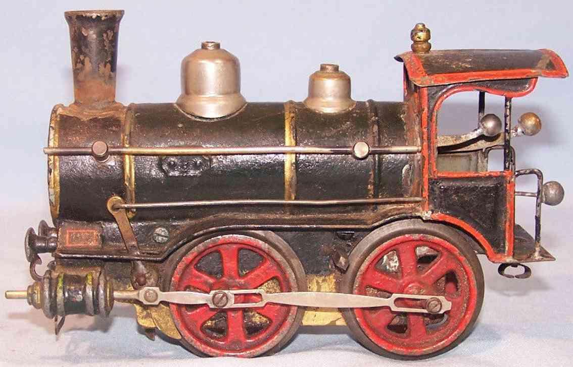 maerklin 1021 rnn eisenbahn uhrwerk-dampflokomotive rot schwarz blech spur 1