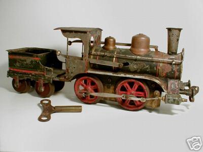 maerklin 1022 bn spielzeug eisenbahn uhrwerk-damplokomotive mit tender spur 2