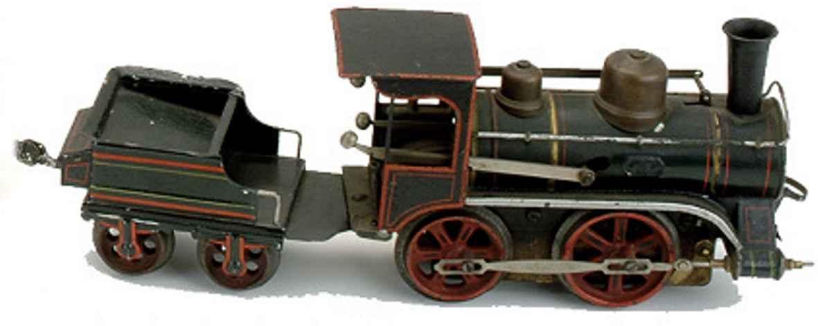 maerklin 1022 rnn spielzeug eisenbahn uhrwerk-dampflokomotive gruen schwarz  spur 2