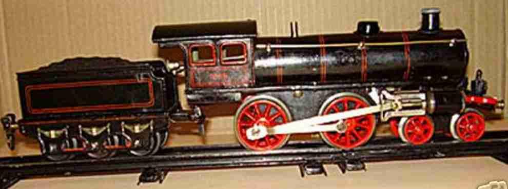 maerklin 1040 spielzeug eisenbahn uhrwerk-dampflokomotive schwarz spur 0