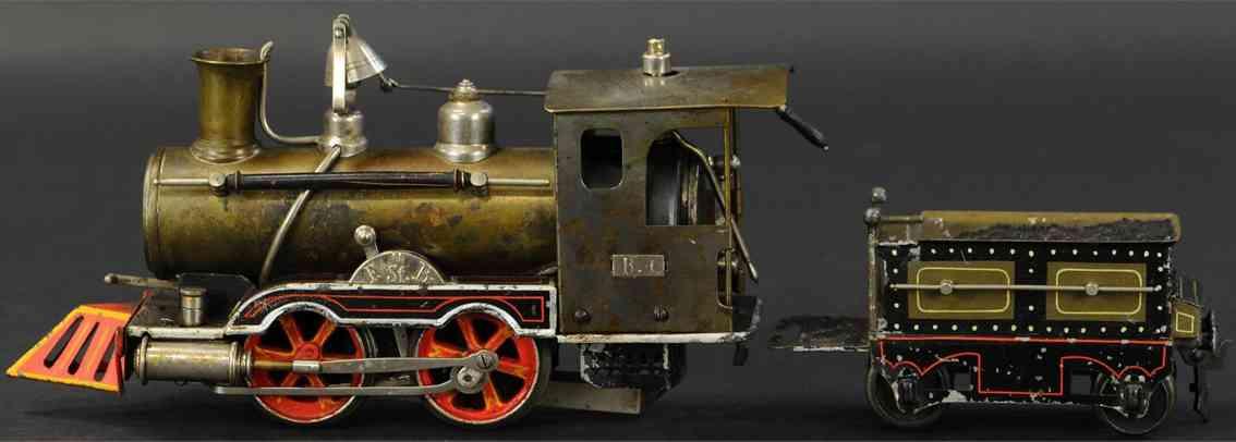 maerklin spielzeug eisenbahn spiritusdampflokomotive mit tender spur 1
