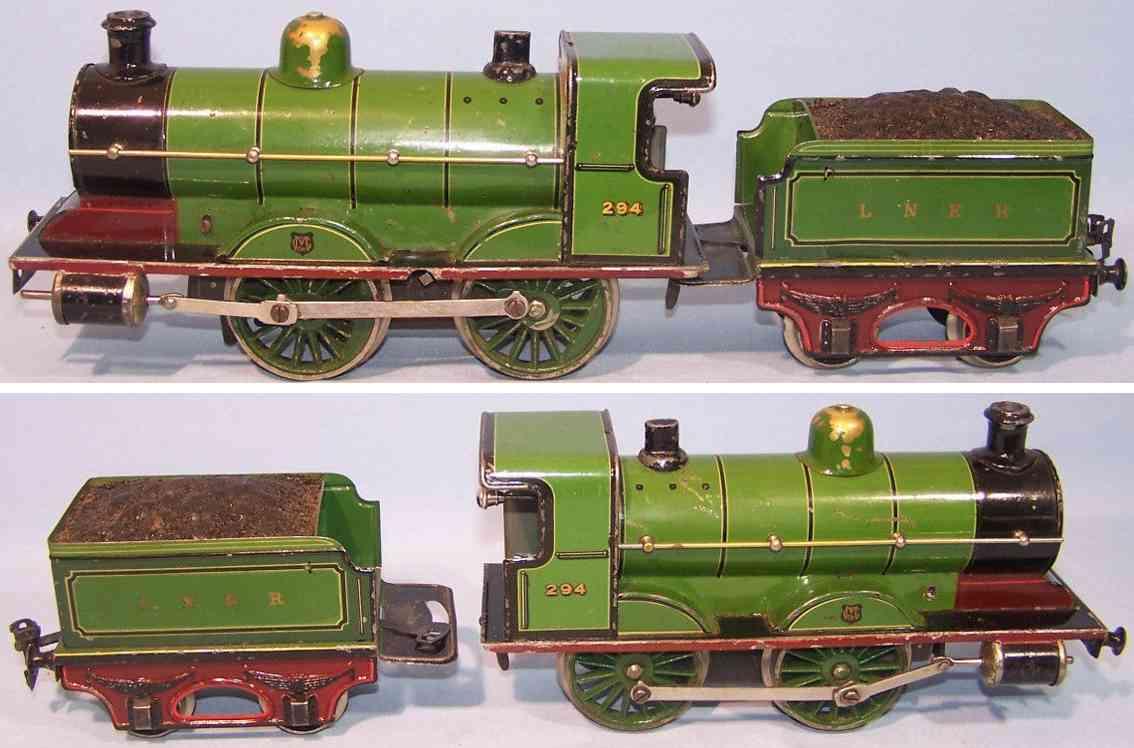 maerklin r 1031 lner englische uhrwerk-lokomotive tender spur 1