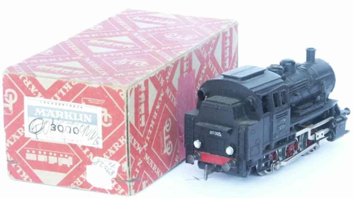 maerklin 3000-2 spielzeug eisenbahn tenderlokomotive schwarz spur h0