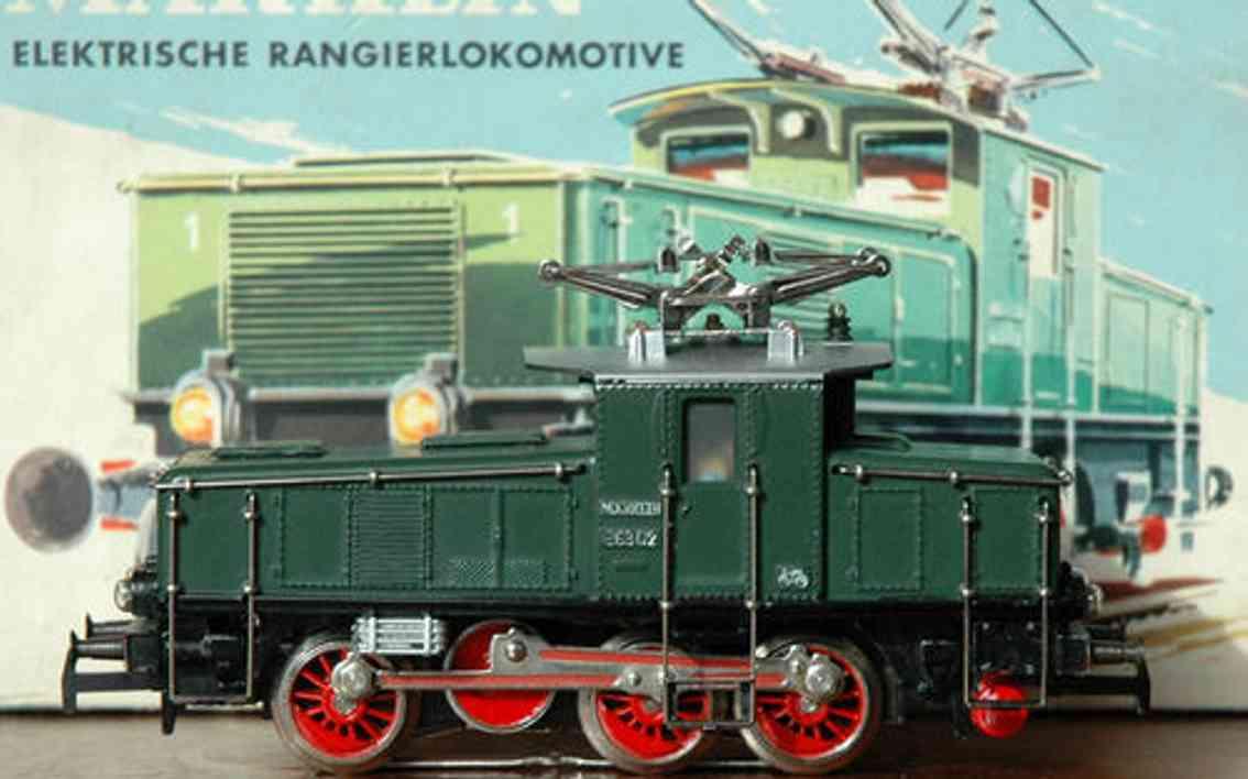 maerklin 3001-1 ce 800-1 spielzeug eisenbahn elektrische rangierlokomotive gruen spur h0