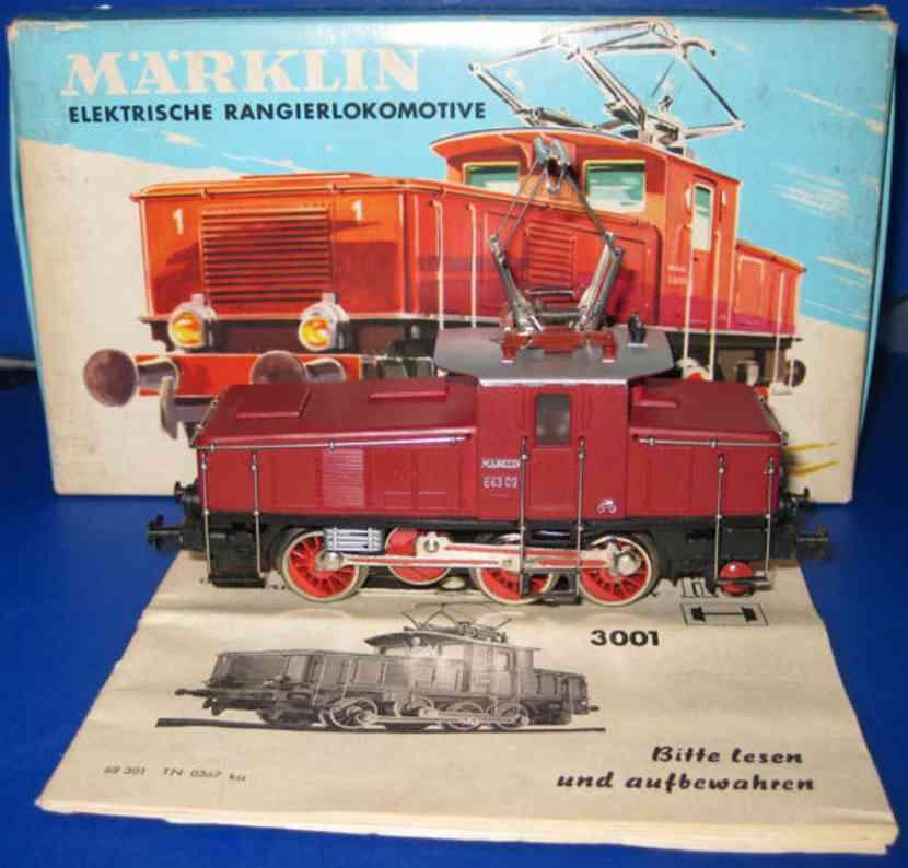 maerklin 3001-1 ce 800-1spielzeug eisenbahn elektrische rangierlokomotive rot spur h0