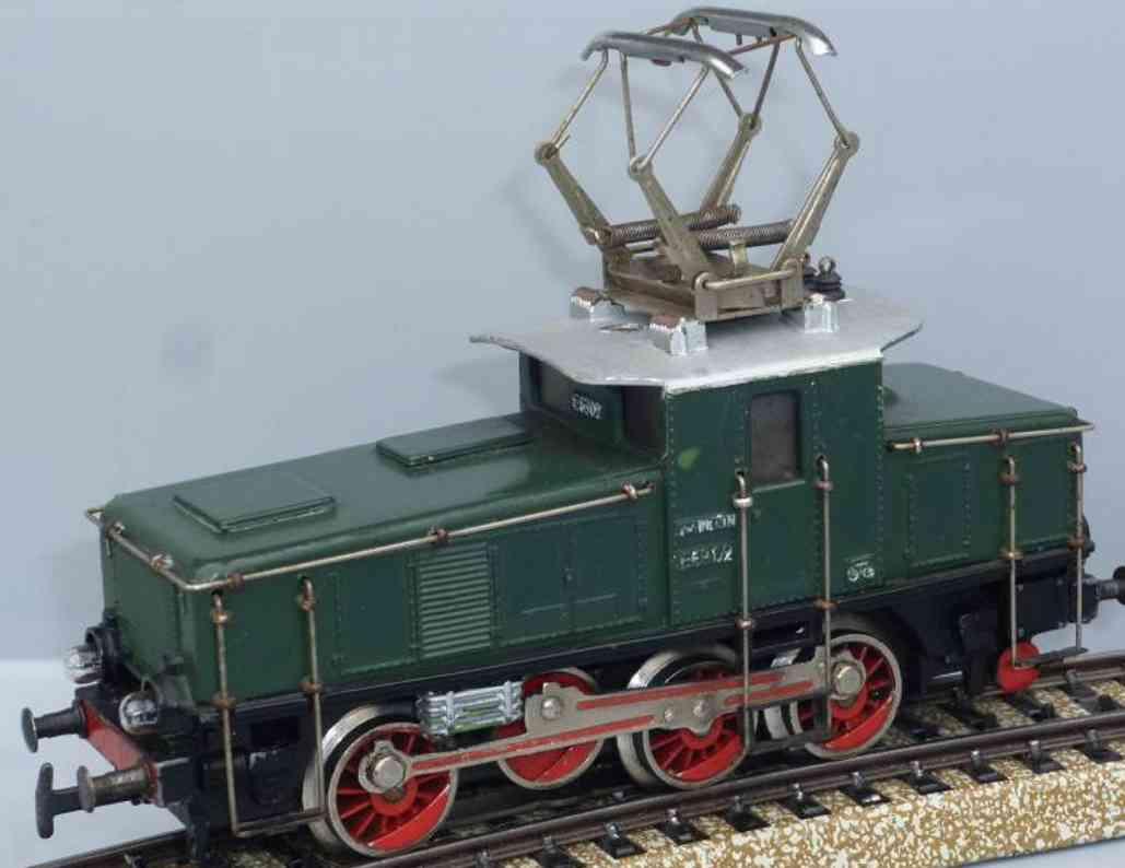 maerklin 3001-3 spielzeug eisenbahn gueterzug-lokomotive gruen spur h0