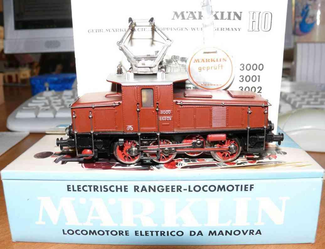 maerklin 3002-2 spielzeug gueterzuglokomotive braun spur h0