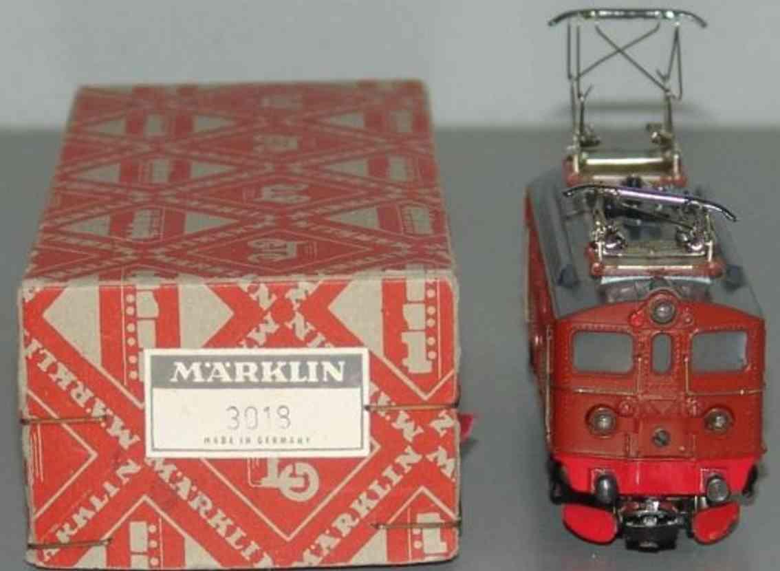 maerklin 3018-1 spielzeug eisenbahn lokomotive braun spur h0