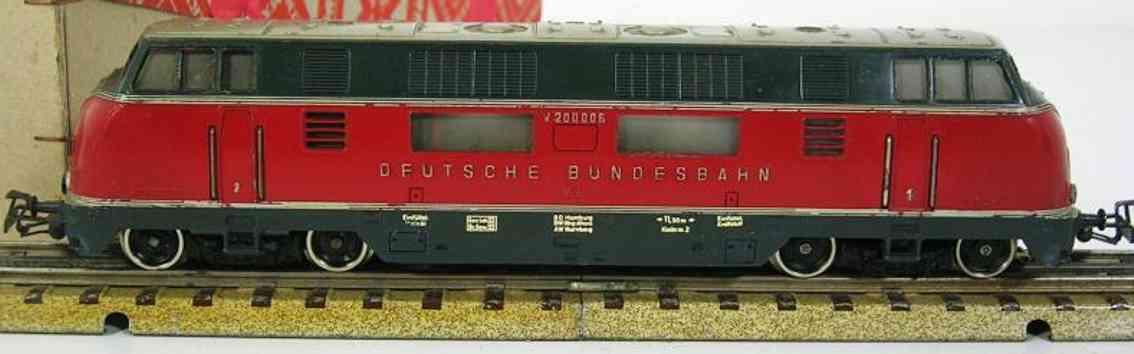maerklin 3021-1 spielzeug eisenbahn diesellokomotive rot spur  h0