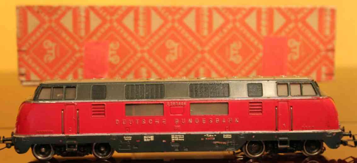 maerklin 3021-2 spielzeug eisenbahn diesel lokomotive rot spur h0