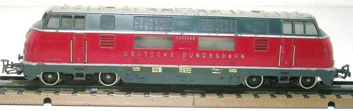 maerklin 3021-3 spielzeug eisenbahn diesel lokomotive rot spur h0