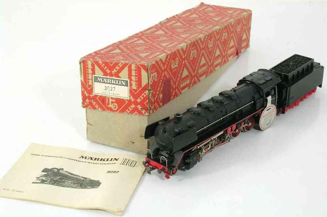 maerklin 3027-1 spielzeug eisenbahn dampflokomotive schwarz spur h0