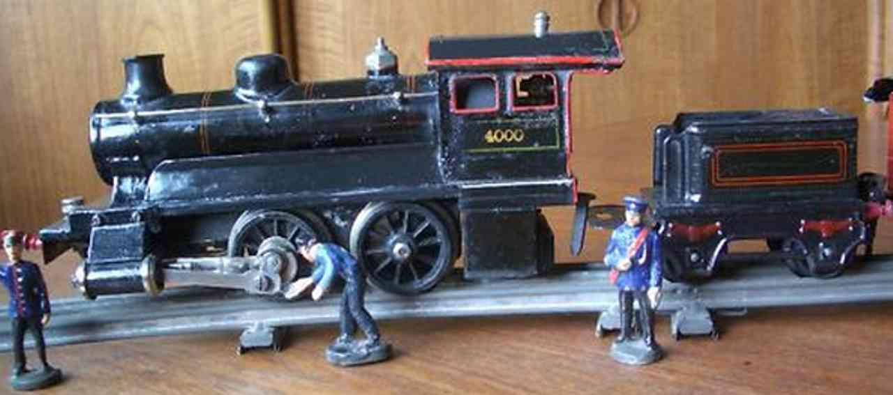 maerklin 4000 spielzeug eisenbahn spiritus-dampflokomotive schwarz spur 0