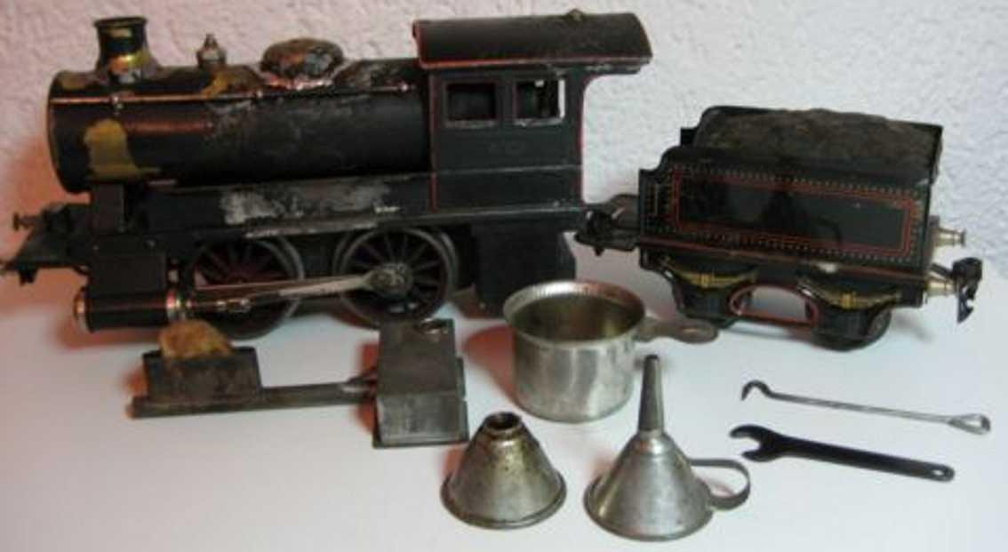 maerklin 4001 spielzeug eisenbahn spiritusdampflokomotive schwarz spur 1