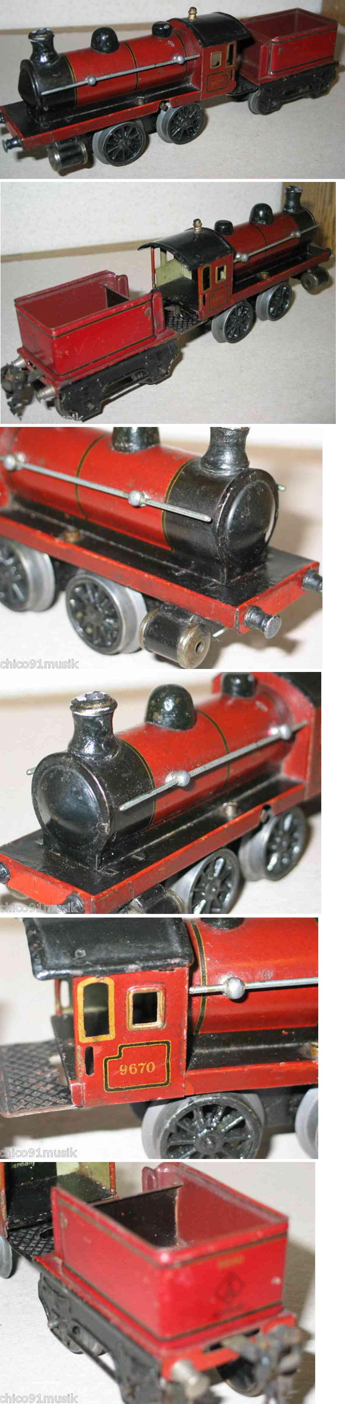 maerklin 9670 spielzeug eisenbahn uhrwerklokomotive mit tender 9690 in dunkelrot spur 0