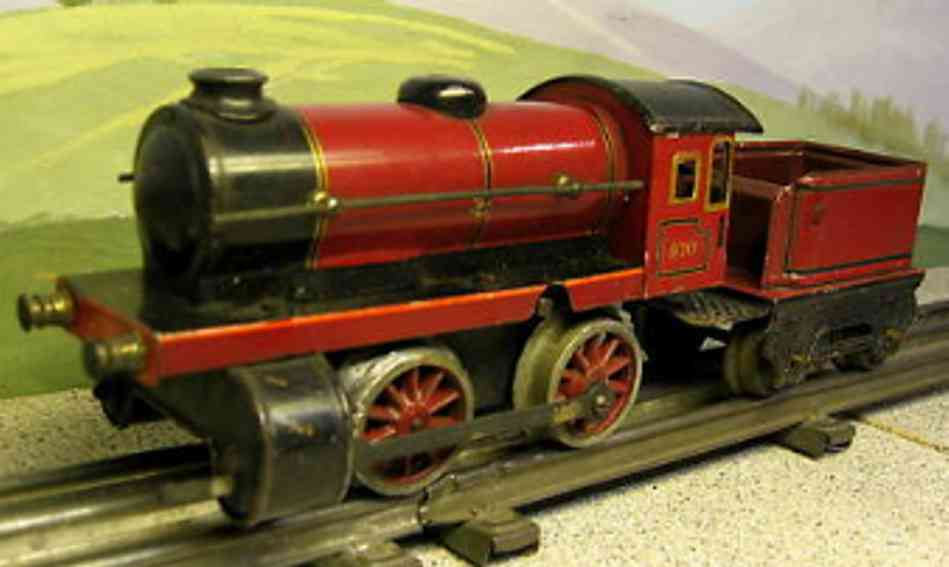 marklin maerklin 970 railway toy engine clockwork steam locomotive tender red gauge 0