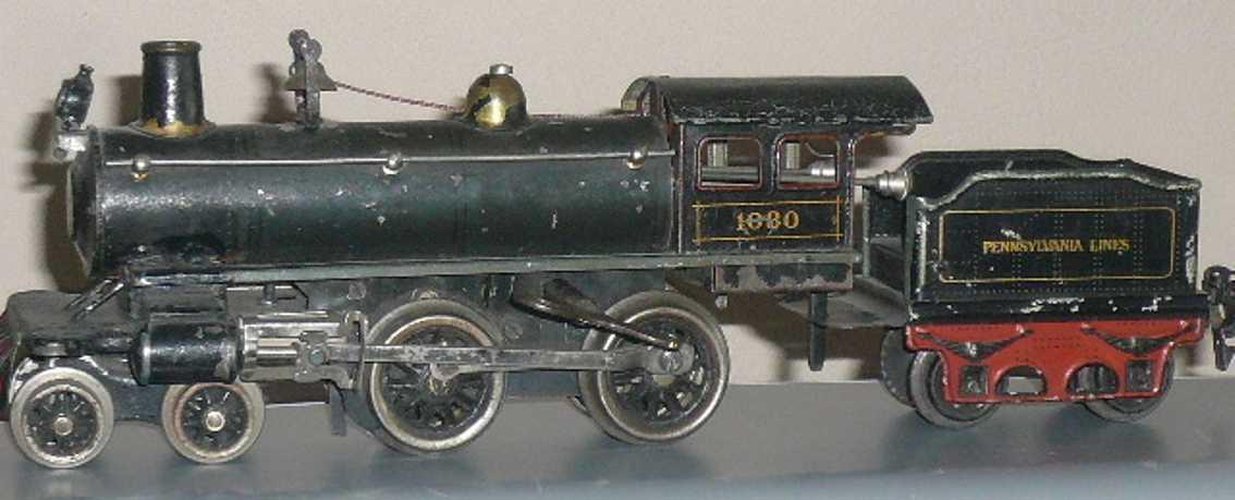 maerklin ae 1030 amerikanische uhrwerk-lokomotive schwarz oliv spur 0
