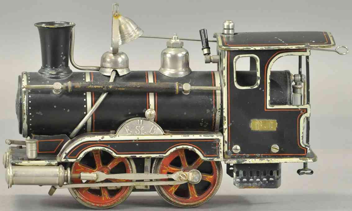maerklin spielzeug eisenbahn amerikansiche spiritus-dampflokomotive spur 1