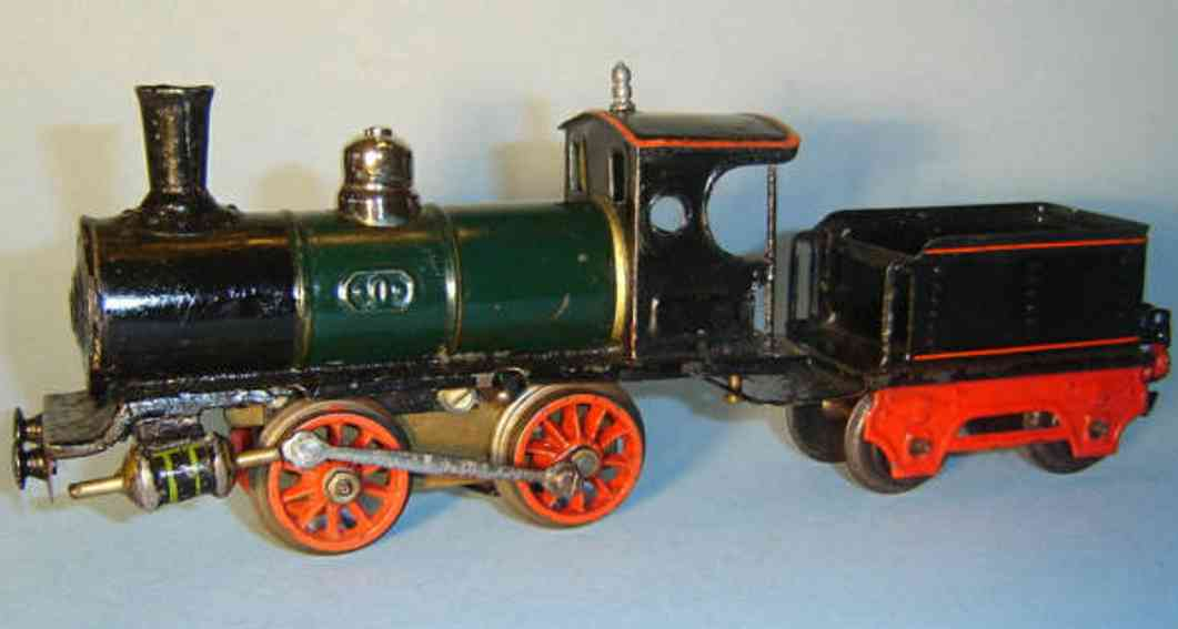 marklin maerklin b 1020 railway toy engine clockwork steam locomotive green gauge 0