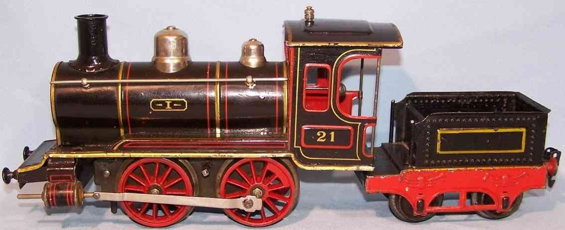 maerklin b 1021 spielzeug uhrwerk-dampflokomotive tender schwarz spur 1