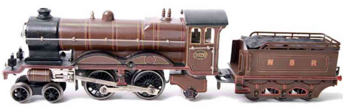 marklin maerklin ce 1020 nbr toy english clockwork steam locomotive brown guage 0