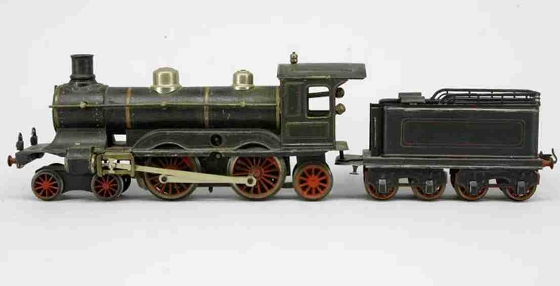 maerklin ce 1021 spielzeug eisenbahn uhrwerk-dampflokomotive schwarz spur 1