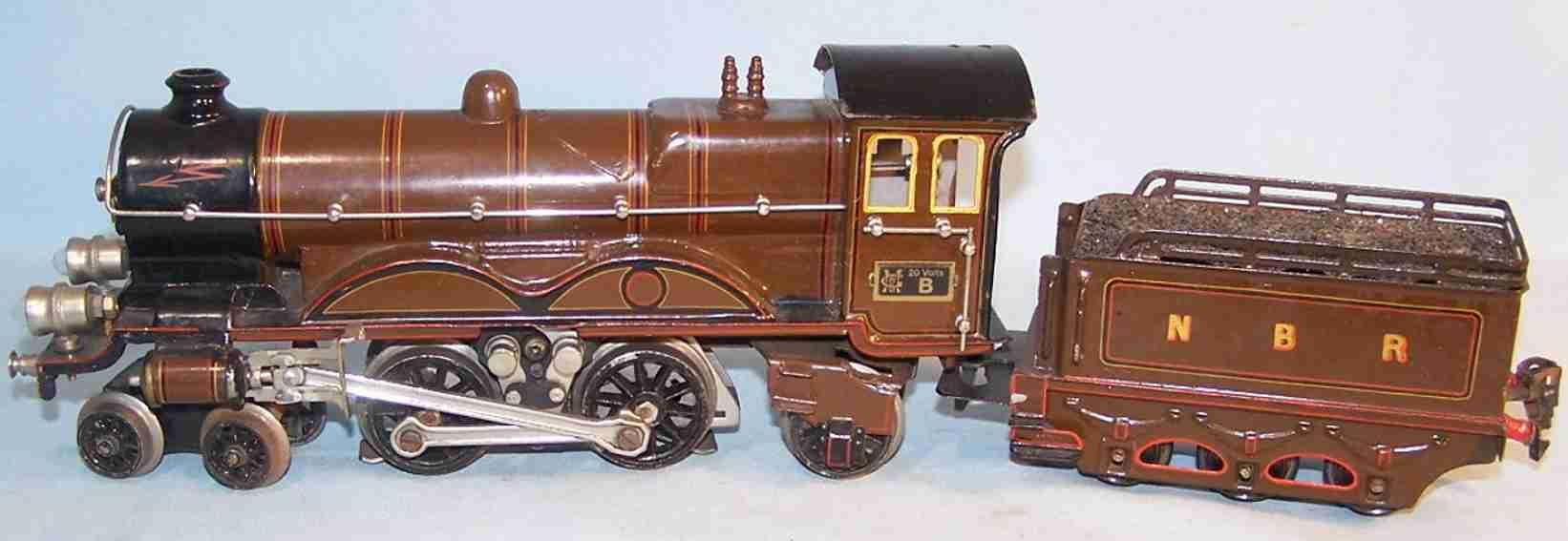 maerklin ce 65/13020 spielzeug eisenbahn englische schnellzug-lokomotive braun spur 0