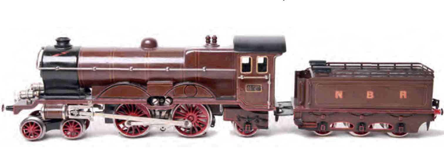 marklin maerklin ce 65/13021 nbr railway toy engine english 20 volt-locomotive brown gauge 1