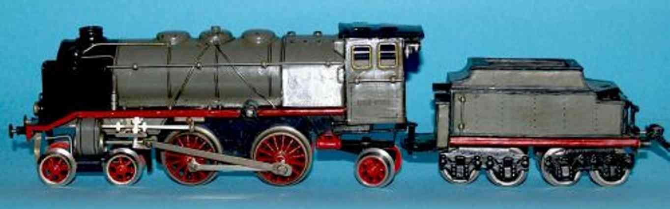 maerklin cer 1020 spielzeug eisenbahn uhrwerk-dampflokomotive grau spur 0