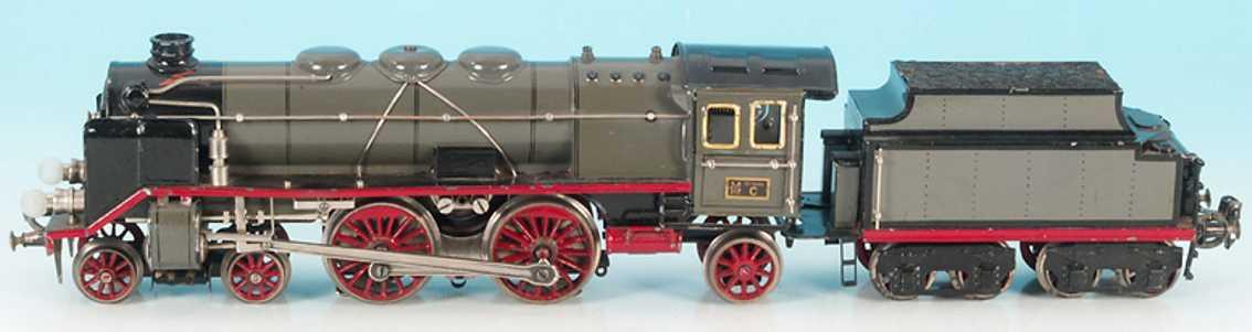 marklin maerklin cer 66/12921 railway toy engine steam locomotive gray gauge 1