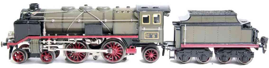 maerklin cer 66/13020 spielzeug eisenbahn 20-volt dampflokomotive grau spur 0