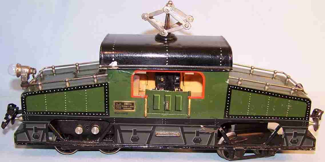 marklin maerklin cl 64/3021 deb railway toy engine heavy current electric locomotive  green gauge 1