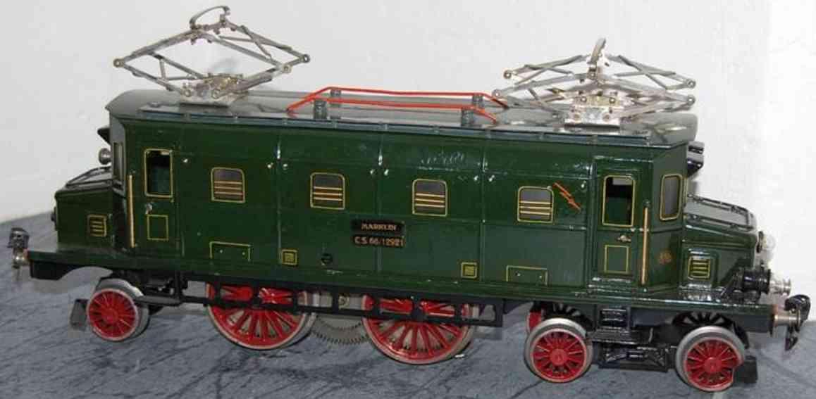 marklinmaerklin cs 66/12921 railway toy engine 20 volt electric locomotive green gauge 1