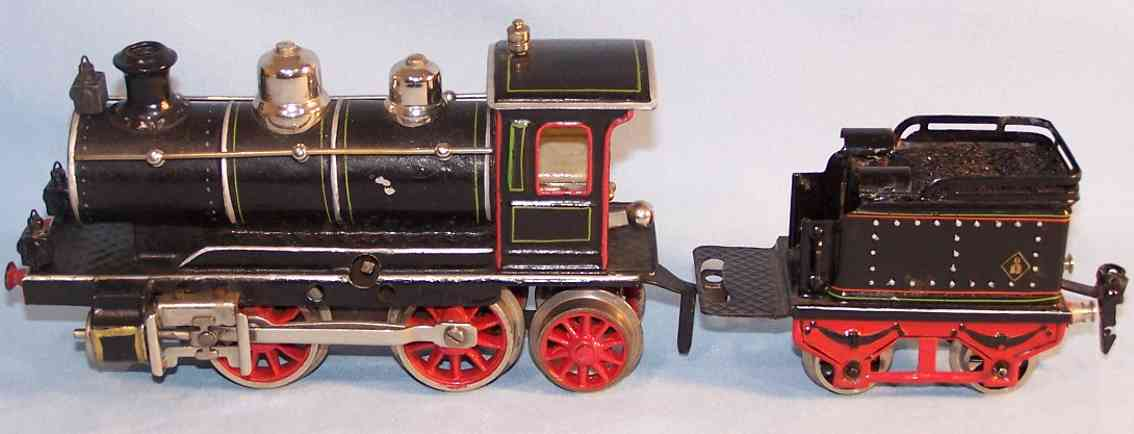 marklin maerklin d 1020 railway toy engine clockwork steam locomotive tender blacke gauge 0