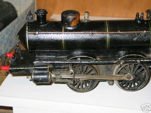 marklin maerklin d 1021 railway toy engine clockwork steam locomotive black gauge 1