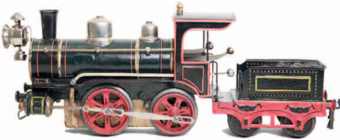maerklin D 1022 1908 spielzeug eisenbahn uhrwerk-dampflokomotive gruen spur 2
