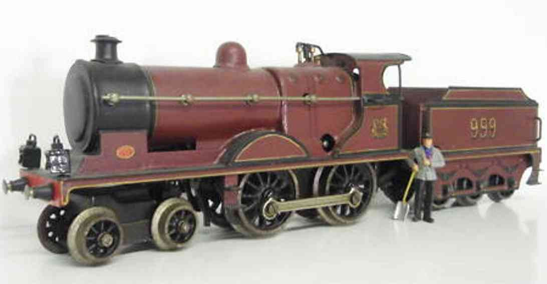 marklin maerklin e 1020 mr railway toy engine english clockwork locomotive red gauge 0