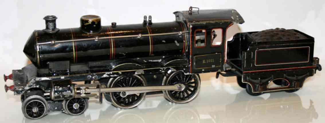 marklin maerklin e 1021 railway toy engine clockwork steam locomotive black gauge 1