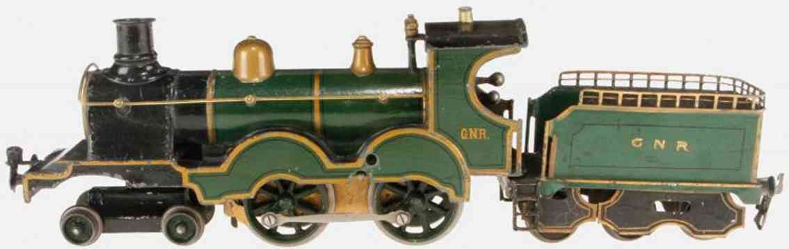 marklin maerklin e 1021 gnr english clockwork steam locomotive foru wheels cases gauge 1