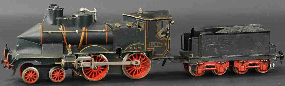 maerklin E1021 PLM (1906) spielzeug eisenbahn französische uhrwerk-dampflokomotive #e1021 plm, coupe vent,