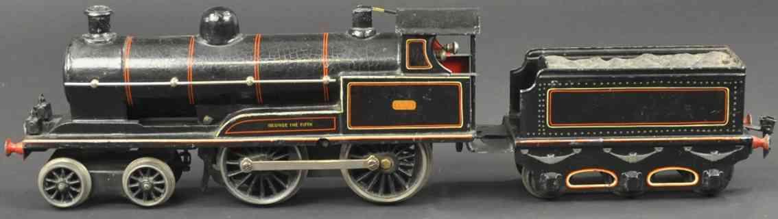 maerklin e 1021 lnwr englische uhrwerk-lokomotive schwarz spur 1