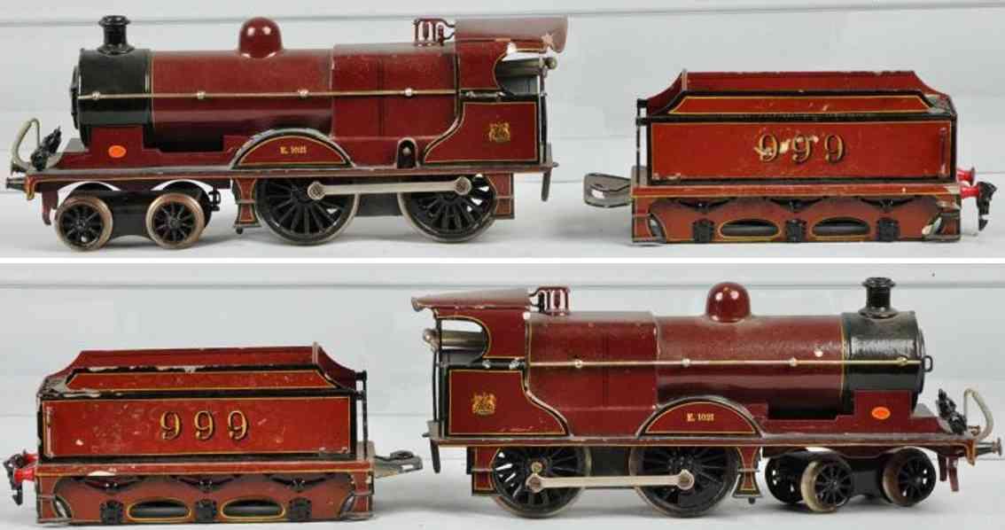 maerklin e 1021 mr spielzeug eisenbahn englische uhrwerk-lokomotive reddish gauge 1