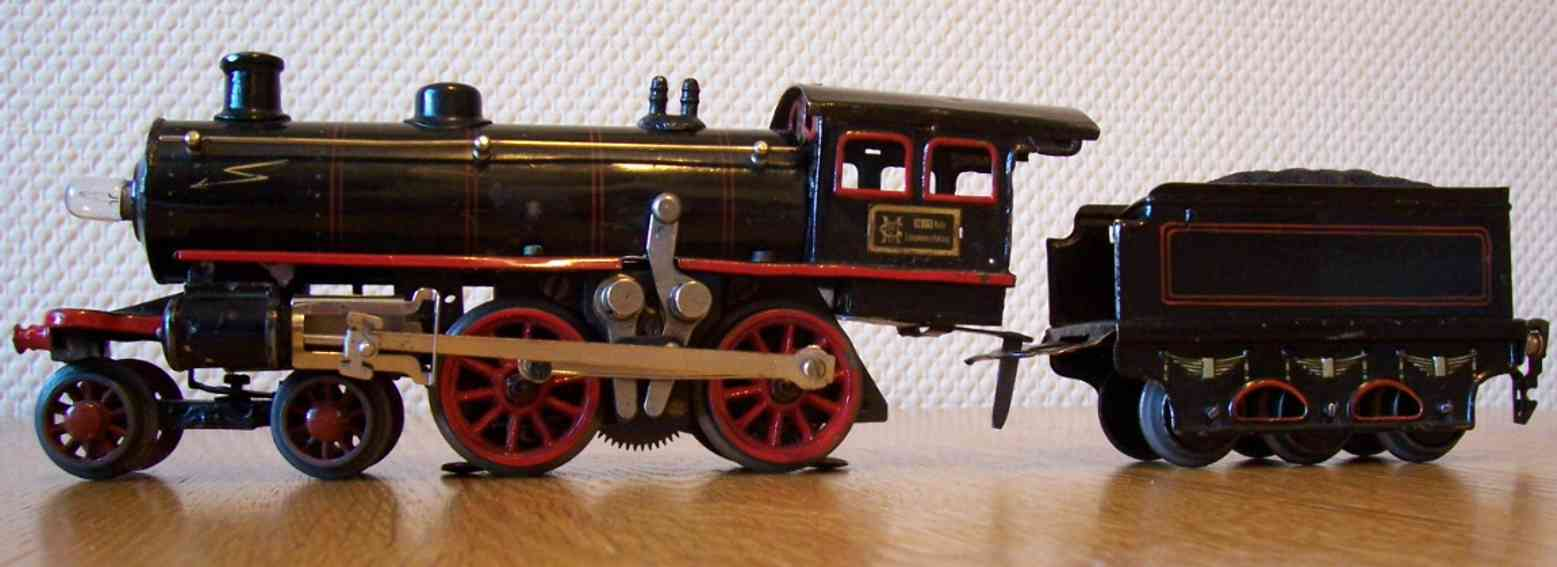 marklin maerklin e 3040 railway toy engine heavy current steam locomotive tender black gauge 0