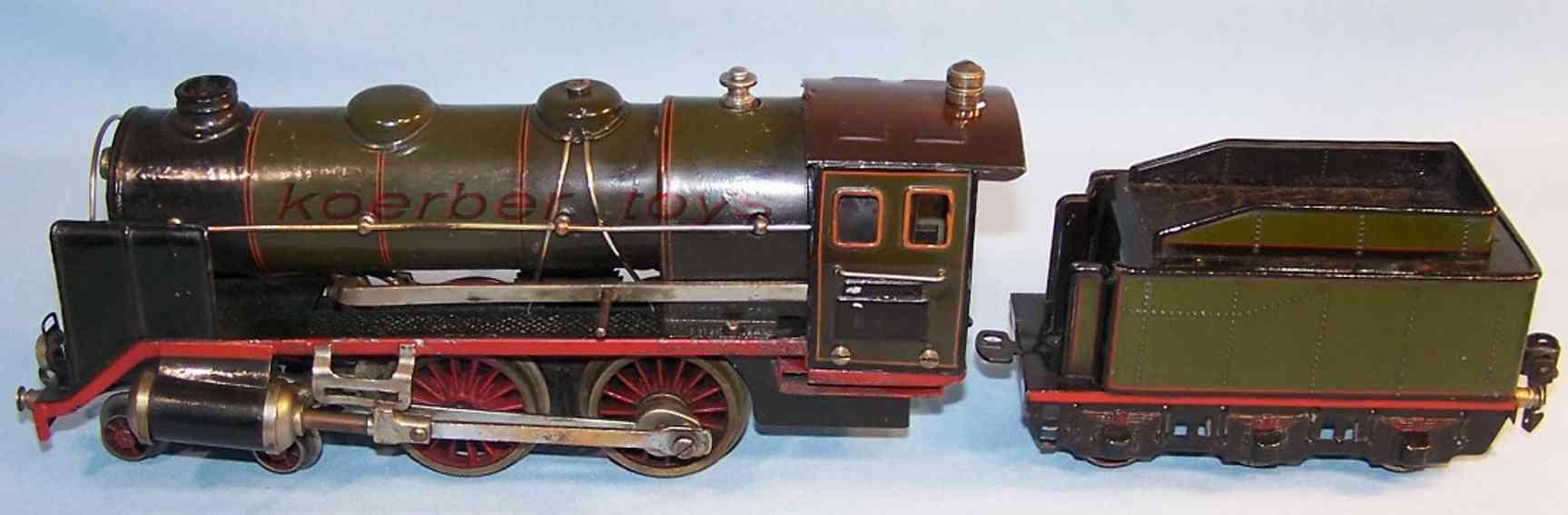 marklin maerklin e 4920 railway toy engine spirit steam locomotive tender green gauge 0