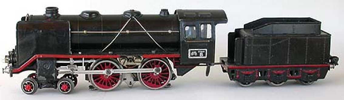 marklin maerklin e 66/12920 railway toy engine steam locomotive dragging tender gauge 0