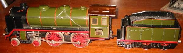 marklin maerklin e 66/12921 toy engine 20-volt steam locomotive green black gauge 1