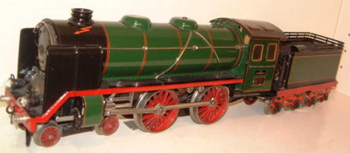 marklin maerklin e 66/12921 railway toy engine 20-volt steam locomotive green black gauge 1