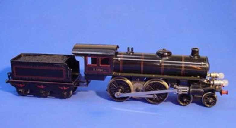 marklin maerklin e 66/13041 railway toy engine 20 volt steam locomotive black gauge 1